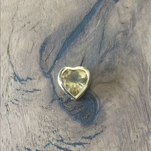 Jewelry - Stamped 14k Genuine Gold Citrine Heart Pendant